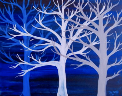 Pizza & Paint at The Peaks: Frozen Trees