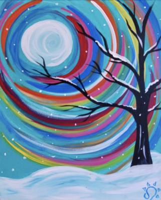 Pizza & Paint at The Peaks: Rainbow Winter