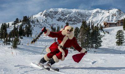 Santa Skis at Snowbasin
