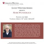 Guest Writers Series with Mark Wunderlich