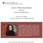 Guest Writers Series with Janet Sarbanes