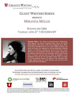 Guest Writers Series with Miranda Mellis