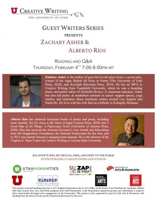Guest Writers Series with Zachary Asher and Alberto Ríos