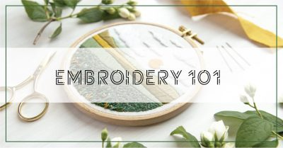 Embroidery 101: In-Person Workshop