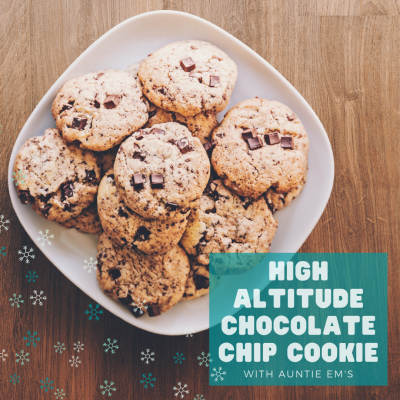 High Altitude Chocolate Chip Cookie