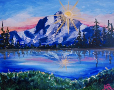 Pizza & Paint at The Peaks: Sun Kissed