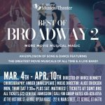"""SGMT presents """"Best of Broadway 2"""" More Movie Musical Magic!"""