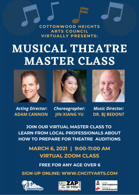 Cottonwood Heights Free Virtual Theatre Masterclas...