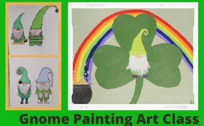 Saint Patrick's Gnome Paint Class