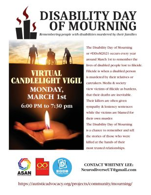 Disability Day of Mourning Virtual Candlelight Vig...