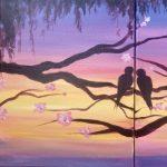 Love Birds Partner Painting
