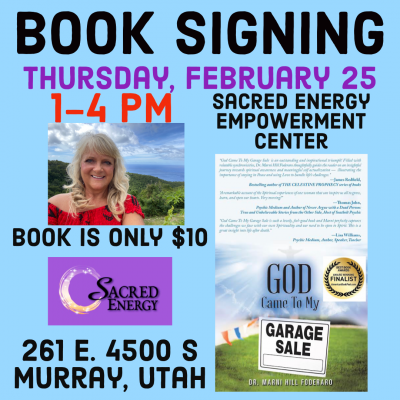 BOOK SIGNING: GOD CAME TO MY GARAGE SALE