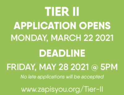 2021 ZAP Tier II Application
