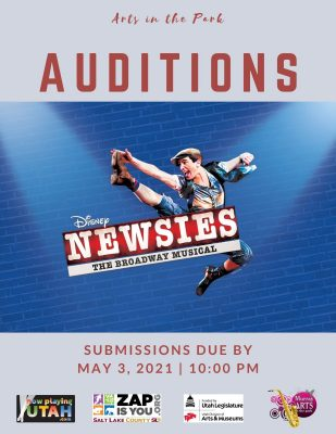 "Auditions for Disney's ""Newsies"""