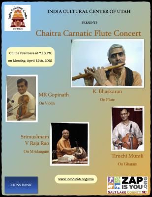 Chaitra Carnatic Flute Concert