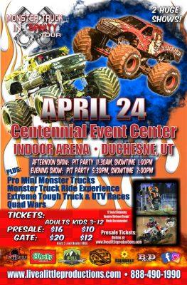 Monster Truck Insanity Tour in Duchesne!