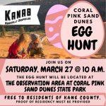 Coral Pink Sand Dunes Egg Hunt