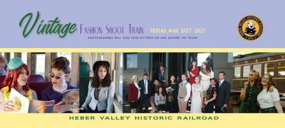 Vintage Fashion Shoot Train