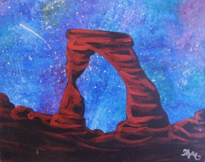 Outdoor Pizza & Paint at The Peaks: Cosmic Arc...