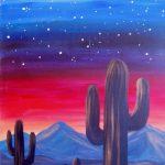 Outdoor Pizza & Paint at The Peaks: Desert Twilight