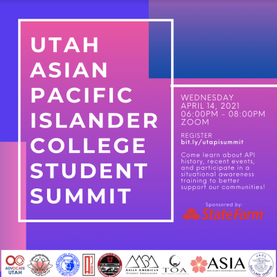 Utah Asian Pacific Islander College Student Summit...