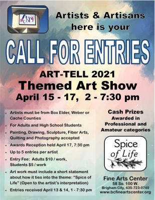 2021 ART-TELL Adult Art Competition Call for Entries