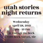 Utah Stories Night at Garage on Beck