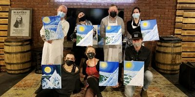 Brushes & Crushes Guided Painting Wine Social - The Season Finale!