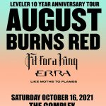 August Burns Red at The Complex