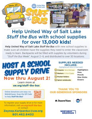 Host a School Supply Drive for the Stuff the Bus E...