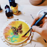 Craft Lake City Workshop: Hand-Painted Embroidered Hoop