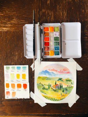 Watercolor Basics Lesson #1: Mountains