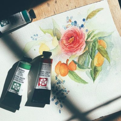 Watercolor Basics Lesson #2: Layering with Nature