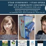 Art Piano Pop-Up Community Concert with Utah Opera Resident Artists