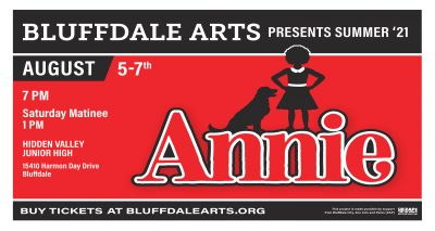 Bluffdale Arts presents the Broadway musical ANNIE- CANCELLED