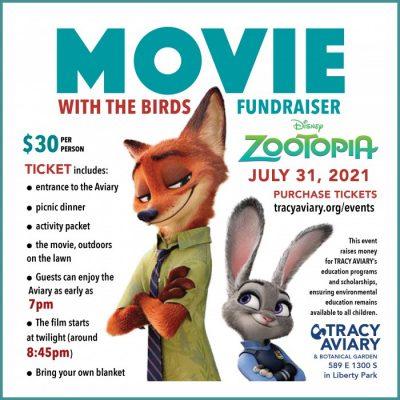 Movie With the Birds: Disney's Zootopia