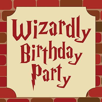 Wizardly Birthday Party