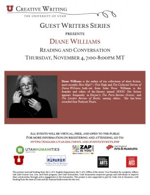 Guest Writers Series with Diane Williams