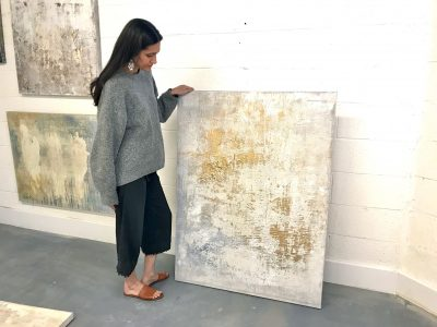 Fearless Abstract Painting with Metallics with Sam...