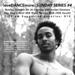 loveDANCEmore's Sunday Series #4: An Evening with Jordan Simmons
