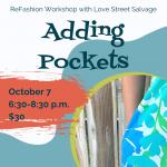 Refashion Workshop: Adding Pockets