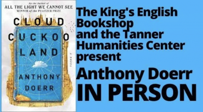 IN PERSON EVENT   Anthony Doerr   Cloud Cuckoo Land: A Novel