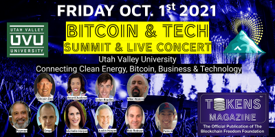 Bitcoin & Tech Summit - Friday, Oct. 1st at Ut...