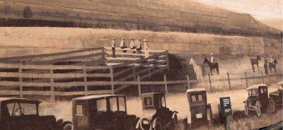 1st Golden Spike Rodeo Mural