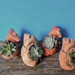 Craft Lake City Workshop: Concrete Heart Planters