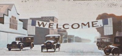 1920's Downtown Welcome Mural