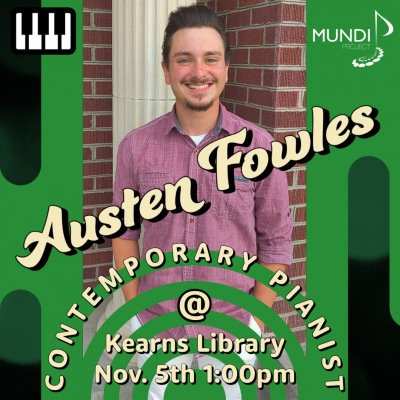 Contemporary Pianist Austen Fowles performs at Kea...