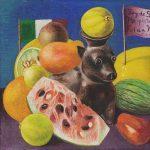 Frida Kahlo Artist Study: Fruit Bat Recreate