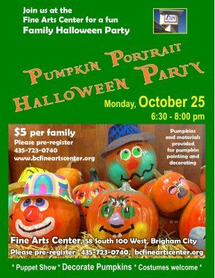 Pumpkin Portrait Halloween Party